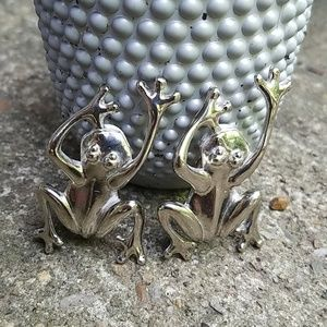 Frog Clip On Earrings